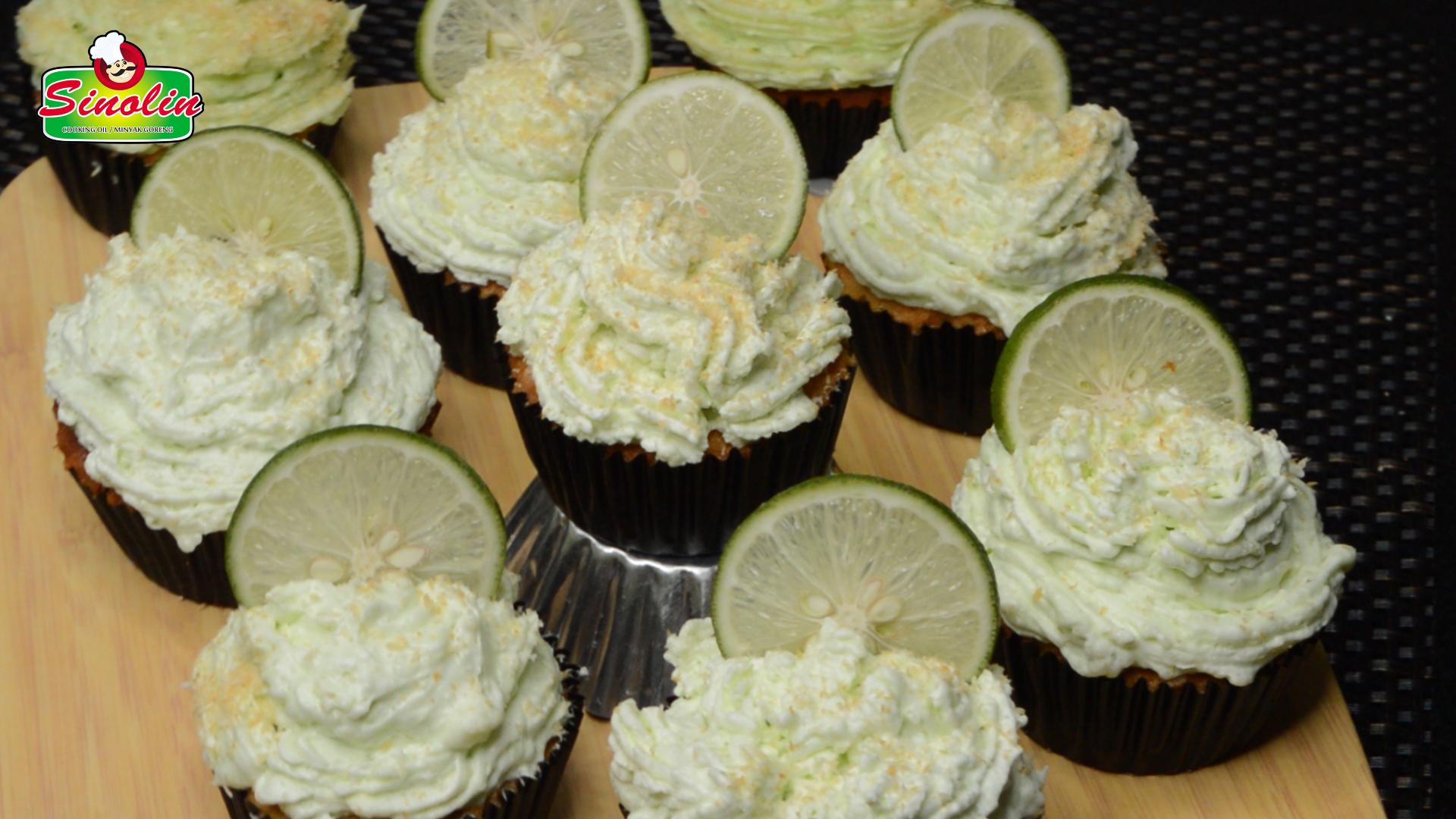 Key Lime Coconut Cupcakes | Dapur Sinolin