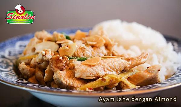 Ayam Jahe dengan Almond | Dapur Sinolin
