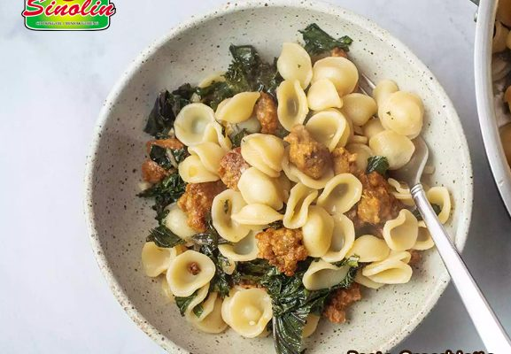 Pasta Orecchiette dengan Sosis dan Kale | Dapur Sinolin