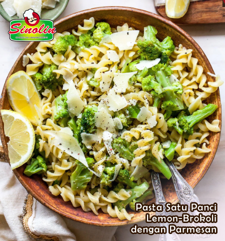 Pasta Satu Panci Lemon-Brokoli dengan Parmesan | Dapur Sinolin