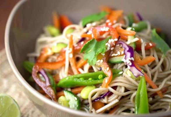 Soba Noodle Salad with Soy Dressing | Dapur Sinolin
